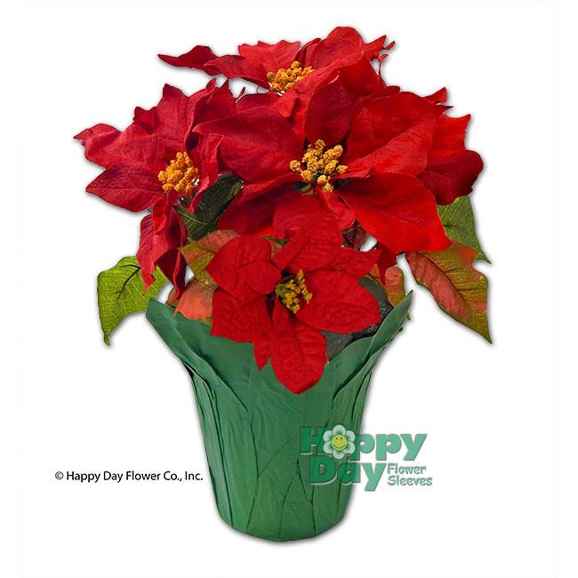 3965 kraft paper pot cover red 6 flowersleeves flower kraft paper pot cover green with poinsettias mightylinksfo