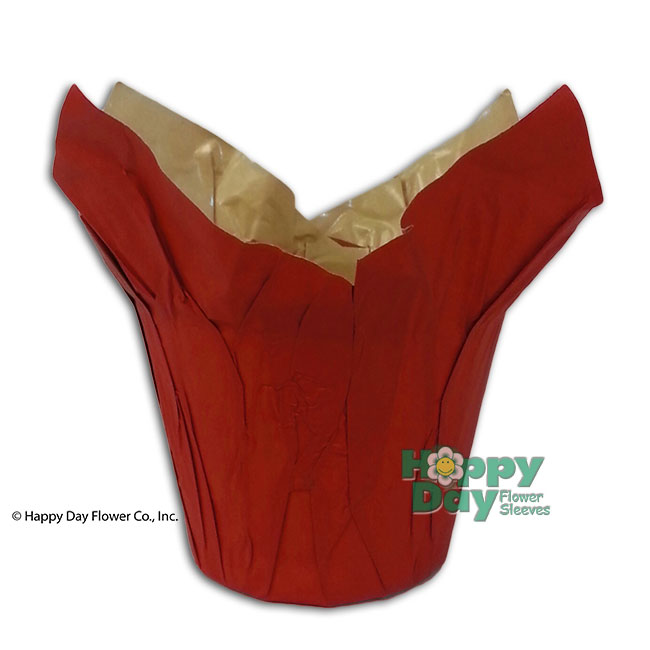 3965 kraft paper pot cover red 6 flower
