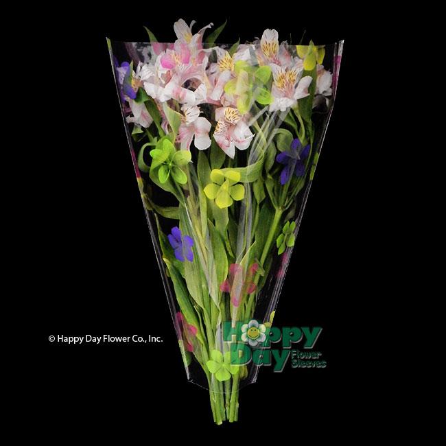 7643 8 petals purple green pink yellow flowersleeves flower 7645 8 petals purple green pink yellow 16 inch with mightylinksfo