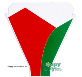 Two Tone Red Green 13in 17in