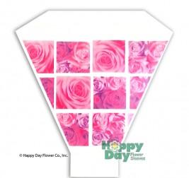 Rose Window Pink Purple 13in 17in