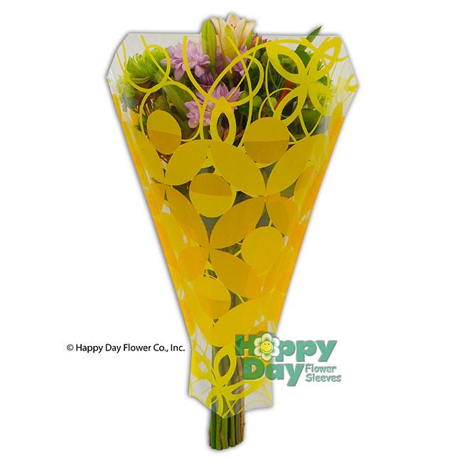 7205 4 Wendy Yellow Flowersleeves Flower Sleeves Wraps